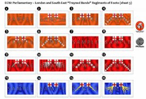 BFL4112  ECW: Parliamentary - London and South-East Regiments of Foote (sheet 3)